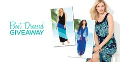 Enter to win a dress from Catherines Plus Sizes! Now through May 2, a new dress will be posted to the Facebook page each day. Comment on the image for a chance to win. Must be a Catherines Facebook Fan. https://www.facebook.com/CatherinesPlusSizes  #Catherines #plussizedresses #spring #giveaway