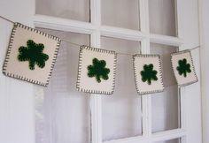 madebyjoey: St. Patricks Day crafting  - shamrock bunting