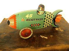Vintage rocket toy.