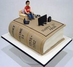 Study Book with a twist!  Cake by MelysCakeDesign