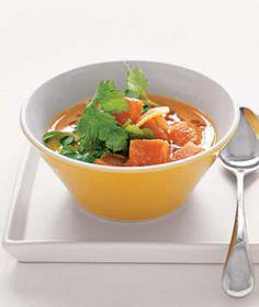 spicy sweet potato & coconut soup