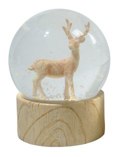 deer snowglobe