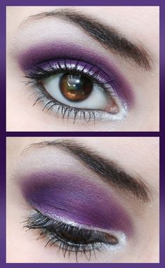 silver and purple eyeshadow #vibrant #smokey #bold #eye #makeup #eyes