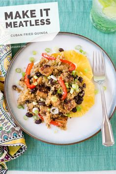 Cuban Fried Quinoa with Black Beans and Smoky Tempeh