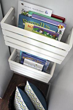 DIY kids room bookshelves!