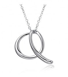 This unsual Bazaar Q Necklace is one for the grabs. The simple Q pendant is made from platinum plated 925 silver. The chain that accompanies it is also 925 silver.