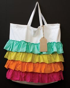 ruffl bag, things with ruffles, craft, canvas bags, diy purse and bags