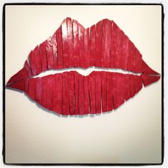 Wooden Lips made from a pallet! So happy with the way it turned out :)