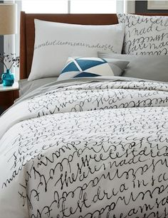 love this patch script duvet cover and shams http://rstyle.me/n/qprtmr9te