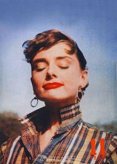 Audrey Hepburn during the filming of Sabrina, 1954