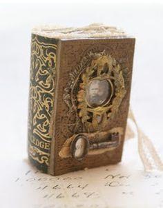 Sarah Fawcett, altered book, steampunk style.