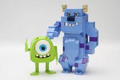 toy, monster ink, brick, lego monsters, monsters inc, disney lego, mike, legos, monstersbi legorobowaka