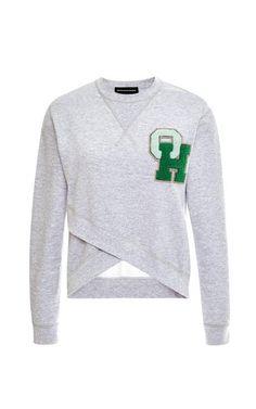 Cross-Front Initialed Sweatshirt by Ostwald Helgason Now Available on Moda Operandi