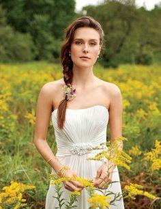 wedding dressses, fashion, braid, weddings, gowns, dresses, wedding hairstyles, bride, flower