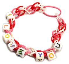 Personalized Stretch Band Bracelets #kids #crafts #stretchband #loopband #loombracelet