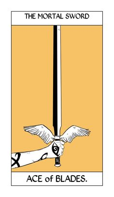 The Mortal Sword takes the Ace of Blades card in Cassandra Jean's Shadowhunters Tarot Cards