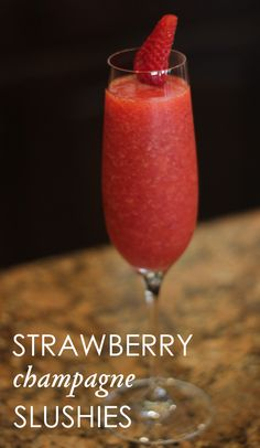 Summer Cocktail Recipe: Strawberry champagne slushies