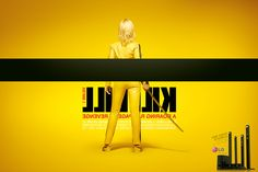 Kill Bill Poster in Reverse angles, advertising campaign, kill bill, home theaters, cinema, perspective, films, film posters, homes