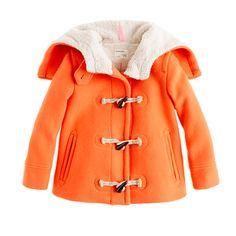 Girls' stadium-cloth toggle coat