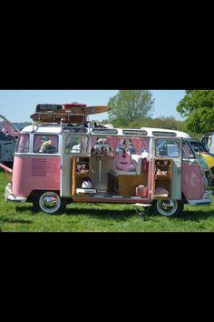 Pink VW van .... I love you.