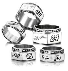 New Lugnut Rings give NASCAR® fans a stylish twist...I'd wear it!!