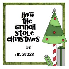 Free! How the Grinch Stole Christmas printable focusing on verbs, sequencing, rhyming thanks to Pitner's Potpourri!