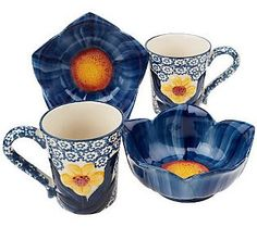 Floral Bowl & Mug Set!! Mommy, Please! Christopher says we have enough bowls and mugs from QVC :p I say we can never have enough!! I just love this set...matches my other temptations perfectly!