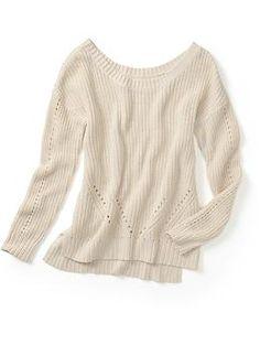 shaker stitch sweater / piperlime