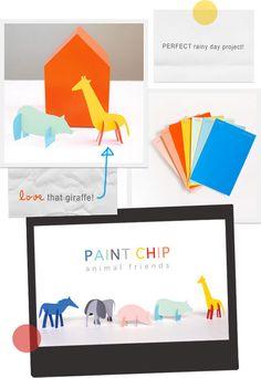 Paint Chip animal friends