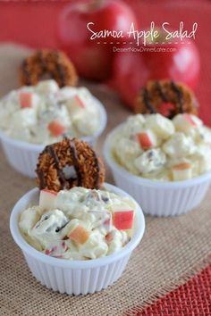 Samoa Apple Salad on MyRecipeMagic.com #girlscoutcookies #samoas #apple #samoas