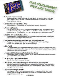 GREAT IPAD TIPS FOR TEACHERS