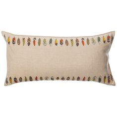 Coral and Tusk - feather trim long pillow