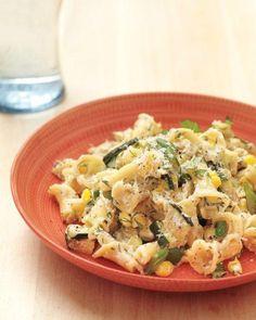 Herbed Ricotta Pasta with Corn and Zucchini Recipe