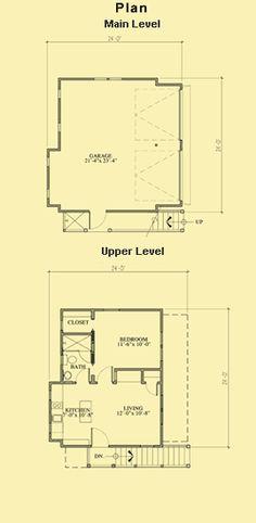 2-Car Garage With Apartment Plans & Garage Apartment Building Plans