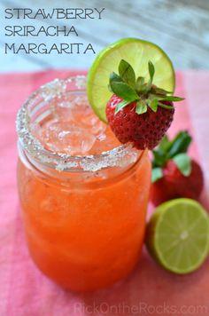 Strawberry Sriracha Margarita #recipe from Rick On the Rocks