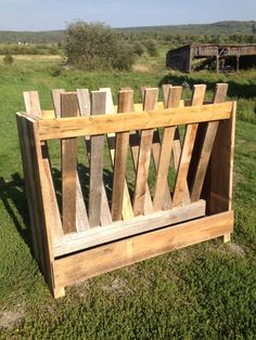 Goat Hay Feeder | new goat feeder I built out of old stack of wood - Survivalist Forum