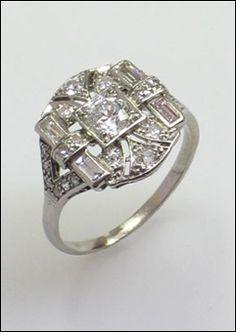 deco engag, dream, weddingengag ring, engagements, ring inspir, deco ring, art deco, john joseph, engagement rings