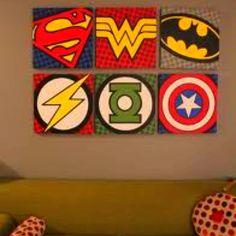 I want these superhero canvas prints.
