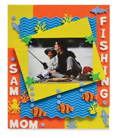 Fishing Photo Frame scrapbooking
