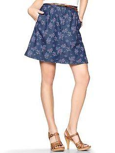 Floral denim skirt | Gap