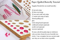 paper quilling beginners - Butterflies by: http//HoneysHive.etsy.com