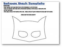 Batman Mask for Batman party