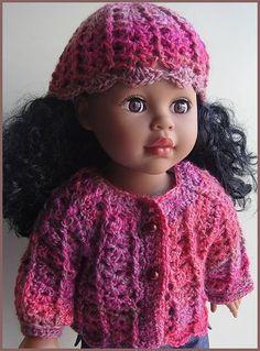 "free crochet pattern for 18"" doll: sweater & hat"