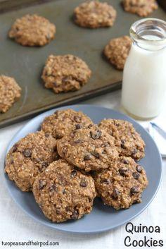 chocolate chips, brown sugar, pea, granola bars, choc chip cookies, bake, quinoa cooki, baking, cookie recipes