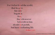 The ultimate valentine; John 3:16