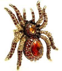 studded spider ring.