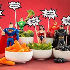 Creative ways to get kids to eat their fruits and veggies! Transform plain food into powerful, after-school snacks.