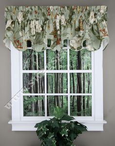 Garden Images a high end well made fully lined & corded valance. 100% Cotton. Popular Waverly Pattern.  #Country #Kitchen #Curtains