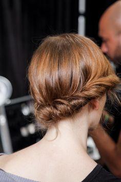 Hair inspiration backstage at Jenny Packham