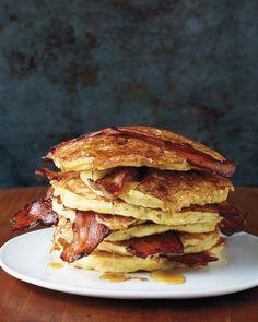 Apple Cider Pancakes + Cinnamon-Sugar Topping